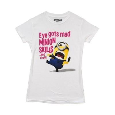 デスピカブル ミー Tシャツ トップス シャツ Despicable Me 2 Eye Gots Mad ミニオン Skills Movie License レディース ジュニア Tシャツ S-XL