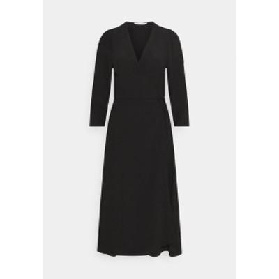 サムスサムス レディース ワンピース トップス BRITT WRAP DRESS - Day dress - black black