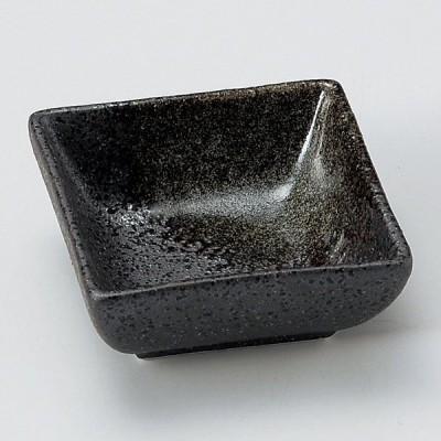 業務用食器 黒伊賀吹角小付 7.4×7.4×3.2�