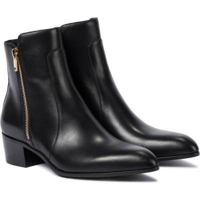 バルマン Balmain レディース ブーツ ショートブーツ シューズ・靴 roxie leather ankle boots Noir