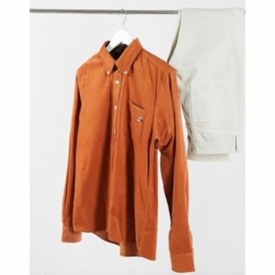 プリティー グリーン Pretty Green メンズ シャツ トップス Standards cord shirt in orange オレンジ
