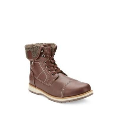 リザーブド フットウェア メンズ ブーツ&レインブーツ シューズ Faux Fur Lined Mid Boot BROWN