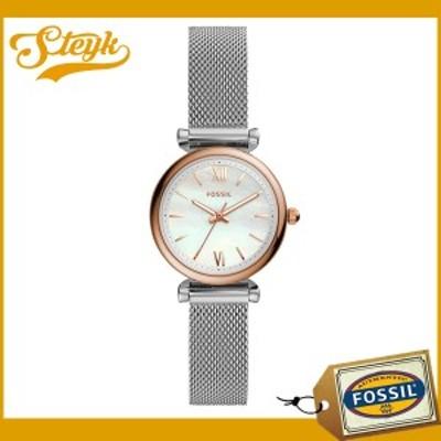 FOSSIL ES4614 フォッシル 腕時計 アナログ CARLIE レディース ホワイト シルバー カジュアル