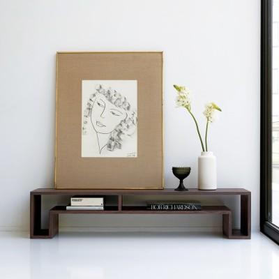 SHOJI/ショージ オケージョナルテーブル 幅140cm高さ30cm リビングテーブル/サイドテーブル[abode・アボード/デザイン:ウー・バホリヨディン] ダークブラウン