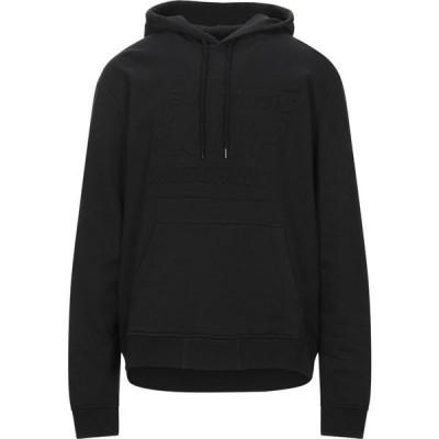 モスキーノ LOVE MOSCHINO メンズ パーカー トップス hooded sweatshirt Black