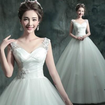 ウエディングドレス 安い 花嫁 ドレス 二次会 ウェディングドレス プリンセス 結婚式 披露宴 ブライダル ロングドレス エンパイア シンプルドレス wedding dress