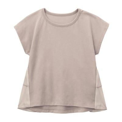 GITA(ジータ) バックフリルTシャツ グレージュ 80 90 100 110 120 130