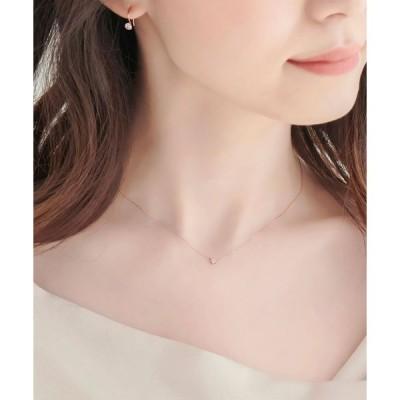 【フィービィー】【K10RG】セブンスターダイヤモンドネックレス