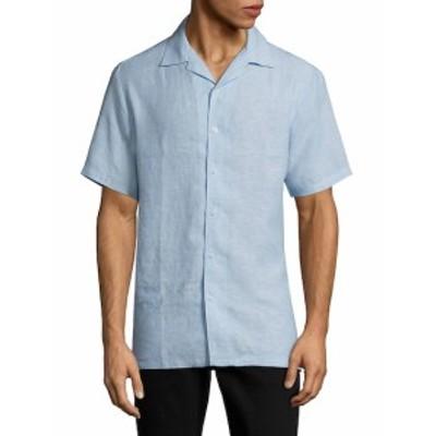 サックスフィフスアベニュー Men Clothing Vacation Linen Button-Down Shirt
