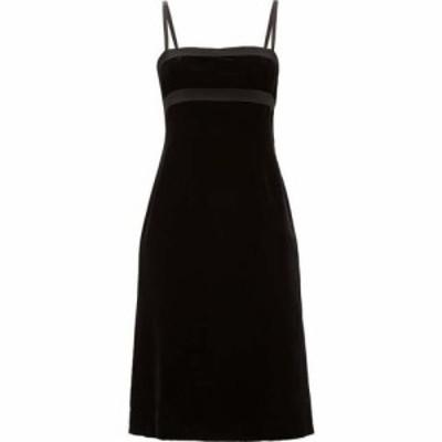 ブロック コレクション Brock Collection レディース パーティードレス ワンピース・ドレス Empire-waist velvet dress Black