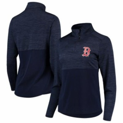 Fanatics Branded ファナティクス ブランド スポーツ用品  Fanatics Branded Boston Red Sox Womens Navy Quarter-Zip Pullover Jacket