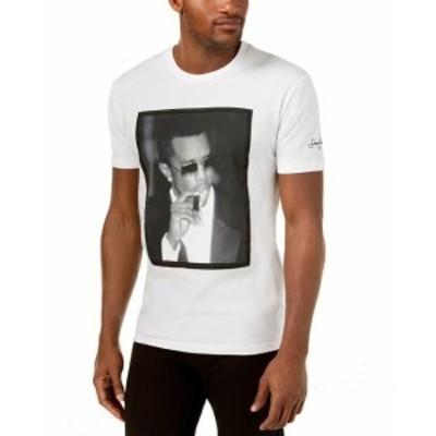 Sean  ファッション トップス Sean John NEW White Mens Size 3XL Diddy Graphic Print Tee Shirt
