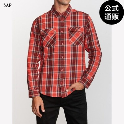 OUTLET 2019 RVCA ルーカ メンズ THAT'LL WORK FLANNEL LONG SLEEVE SHIRT ロングスリーブシャツ BAP 全1色 S/M/L rvca