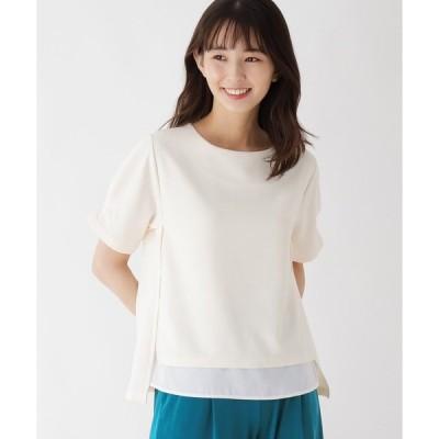 tシャツ Tシャツ 袖タックレイヤード風プルオーバー