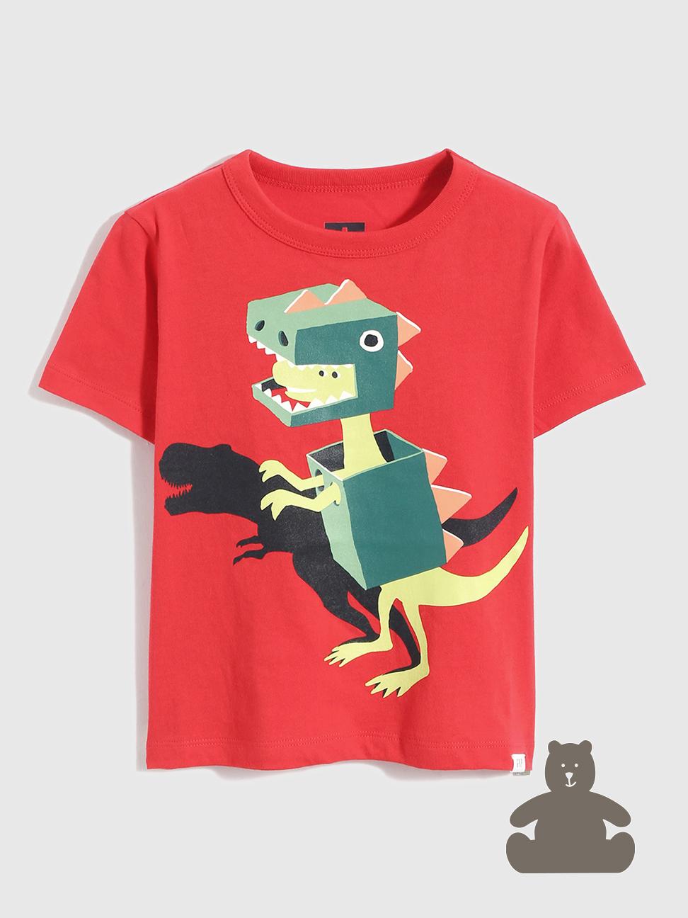 幼童 布萊納系列 純棉動物印花短袖T恤