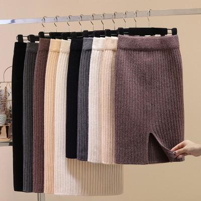 2020秋冬新ロングスカートウールスカート選べる3丈。50.60.70丈 ニットタイトスカート 美シルエット 美脚 ウェストゴム スカート 暖かい スカート マキシ丈 スカート ロングスカート