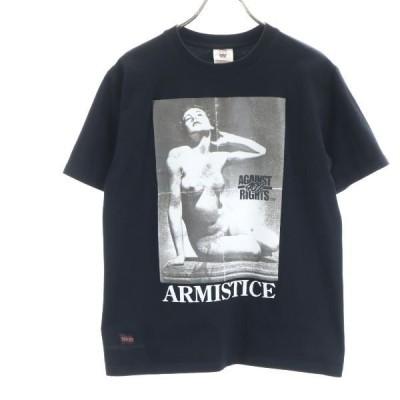 フォーティーパーセントアゲインストライツ 半袖 Tシャツ S 黒 FPAR メンズ 古着 200921 メール便可