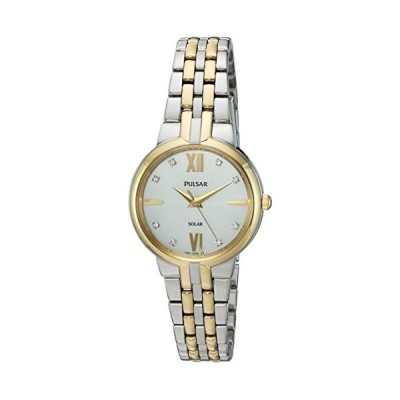 Pulsar Women's Japanese-Quartz Watch with Stainless-Steel Strap, Two Tone, 14 (Model: PY5024) 並行輸入品