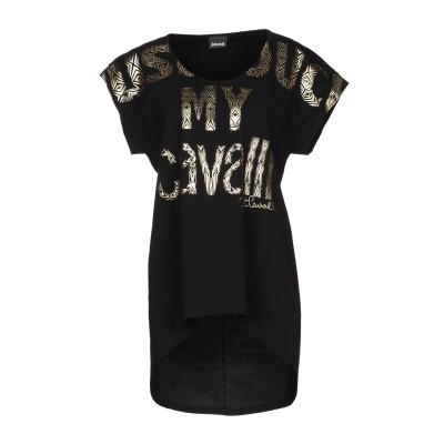 ジャストカヴァリ JUST CAVALLI T シャツ ブラック S コットン 100% T シャツ