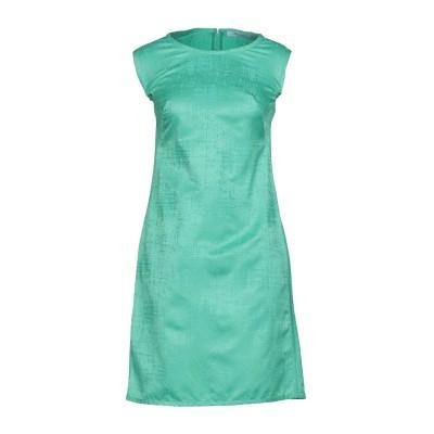 ブルマリン BLUMARINE ミニワンピース&ドレス グリーン 44 コットン 50% / レーヨン 50% ミニワンピース&ドレス