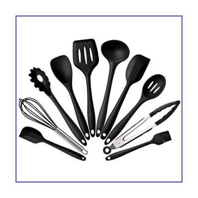 Supoer Silicone Kitchen Utensils Set Non-stick Kitchenware Cooking Tools Spoon Spatula Ladle Egg Beaters Tools Gadget Accessories (Color : B