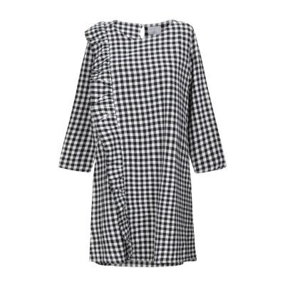 COMPAÑIA FANTASTICA ミニワンピース&ドレス ブラック S コットン 100% ミニワンピース&ドレス