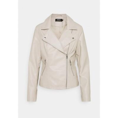 オンリー ジャケット&ブルゾン レディース アウター ONLMELISA BIKER - Faux leather jacket - moonbeam