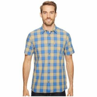 フェールラーベン 半袖シャツ High Coast Big Check Shirt Short Sleeve UN Blue
