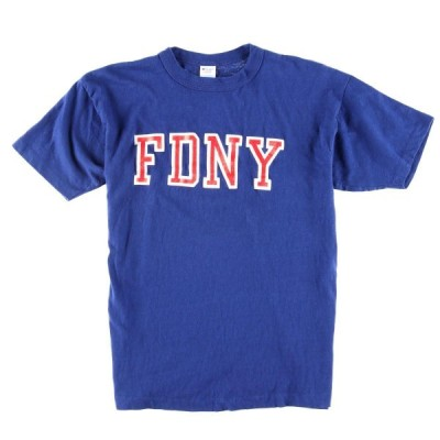 80S チャンピオン トリコタグ FDNY ロゴTシャツ USA製 /wbf3994