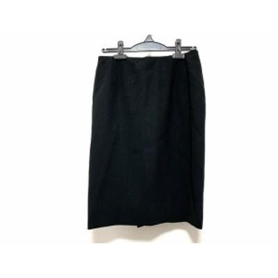 バレンチノ VALENTINO スカート サイズ8 M レディース - 黒 ひざ丈【還元祭対象】【中古】20200904