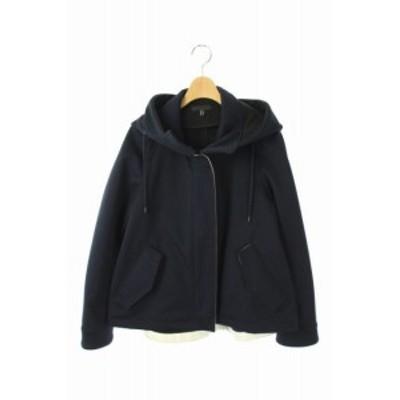 【中古】アイシービー iCB Fleece Bonding ジャケット フード ジップアップ 9 紺 /AO ■OS レディース