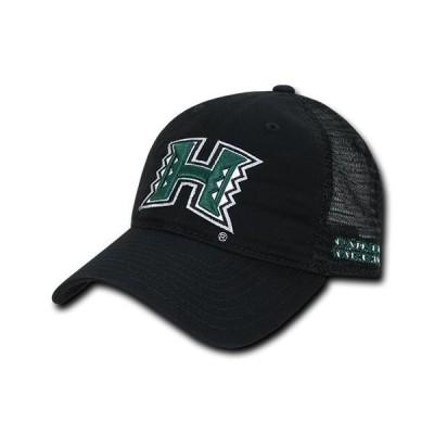 ユニセックス スポーツリーグ アメリカ大学スポーツ NCAA Hawaii University Rainbow Warriors Relaxed Mesh Trucker Caps Hats Black