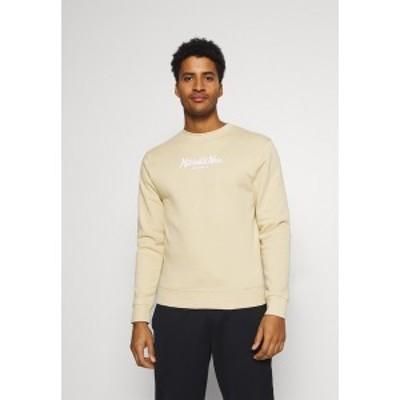 ミッチェル&ネス メンズ パーカー・スウェットシャツ アウター PINSCRIPT CREW - Sweatshirt - tan tan