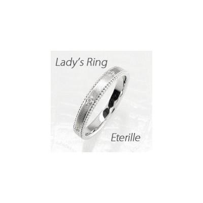 リング ゴールド 10k ダイヤモンド アンティーク ミル つや消し K10 マリッジリング結婚指輪 レディース