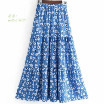 小花柄ロングスカート レディース スカート おでかけ デート 大人可愛い 花柄スカート 小花柄 オシャレ かわいい 花柄ロングスカート フラワー ロングスカート