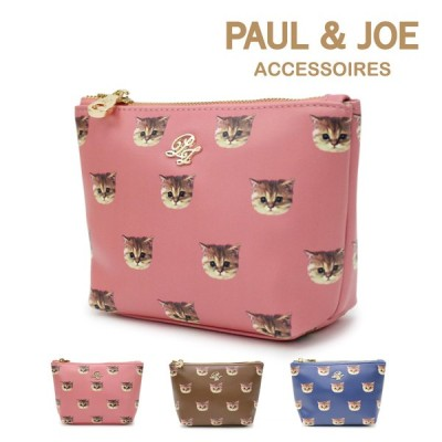 PAUL & JOE ACCESSOIRES (ポール&ジョー アクセソワ) ポーチ ヌネット合皮総柄 PJA-P315 2020AW レディース バッグ かばん  ポールアンドジョー