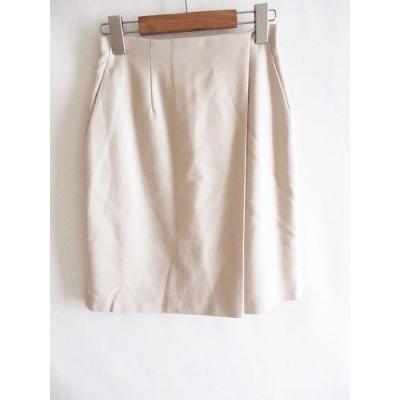 【中古】クミキョク 組曲 KUMIKYOKU 膝丈 小さいサイズ スカート アイボリー S2 レディース 【ベクトル 古着】