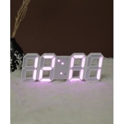 【ニノン】 大画面卓上デジタルおしゃれ目覚まし時計 レディース ホワイト系4 ワンサイズ ninon