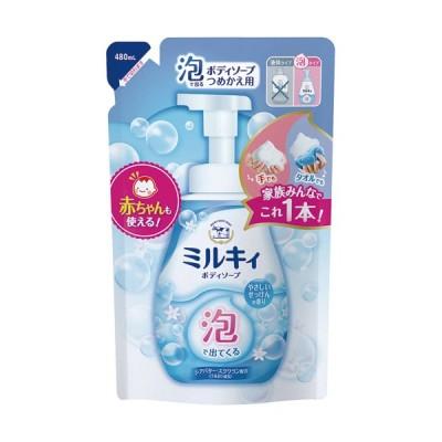 牛乳石鹸共進社 泡で出てくるミルキィボディソープ やさしいせっけんの香り 詰替用 480ml 1パック