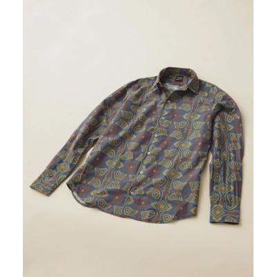 プリントオープンカラーシャツ ジオメトリック