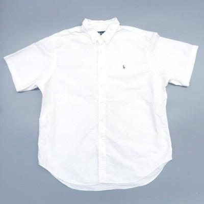 ポロラルフローレン ワンポイント ロゴ ボタンダウン 半袖シャツ ホワイト 白シャツ ビッグサイズ◎ サイズ表記:XXL