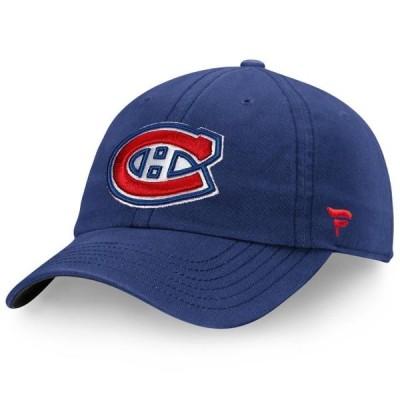 ユニセックス スポーツリーグ ホッケー Montreal Canadiens Fanatics Branded Elemental Slouch Adjustable Hat - Navy - OSFA 帽子