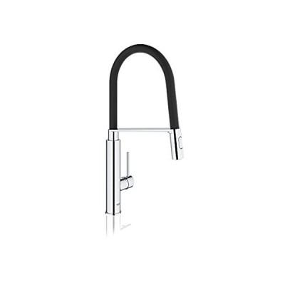 並行輸入品 Grohe 31492000 Concetto Professional Single-Handle Kitchen Faucet, Starligh