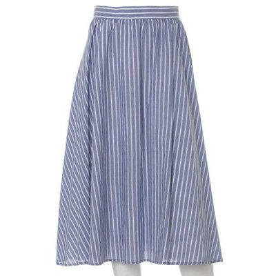 ef-de L / エフデ(エルサイズ) 《大きいサイズ》ストライプフレアスカート