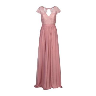 BY MALINA ロングワンピース&ドレス パステルピンク M シルク 100% ロングワンピース&ドレス