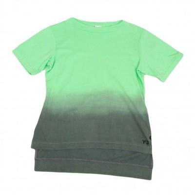 ワイスリーY-3 コットングラデーションTシャツ 黄緑グレーM/M 【レディース】