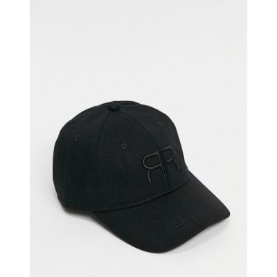 リバーアイランド River Island レディース キャップ 帽子 Embroidered Logo Cap In Black ブラック