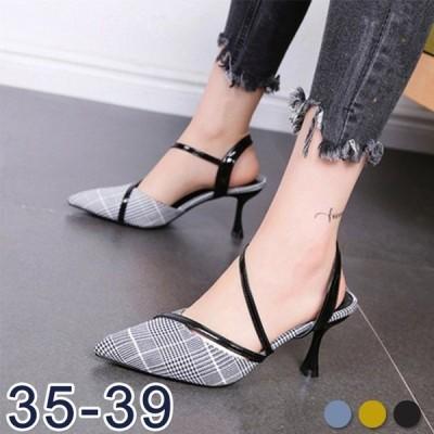 レディースサンダルハイヒールミュール美足サンダル婦人靴ファッション上品インテッド