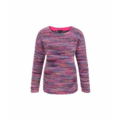 トリバル ニット&セーター アウター レディース Long Sleeve Drop Shoulder Top Hot Pink