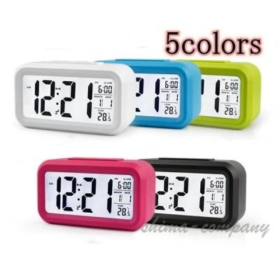 目覚まし時計 デジタル 卓上 めざまし時計 起きれる 子供 大画面 夜間バックライト 自動点灯 温度計 アラーム